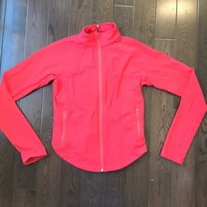 Coral Pink lululemon Zip Up Jacket 8